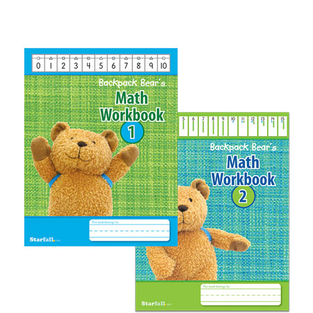 Backpack Bear's Math Workbook Set