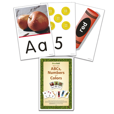 Detailed view of ABCs, Numbers, and Colors Wall Cards