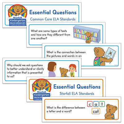 Detailed view of Essential Questions Cards
