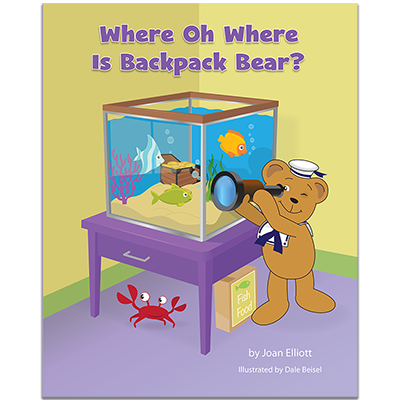 Detailed view of Where Oh Where is Backpack Bear?