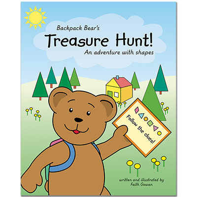 Detailed view of Backpack Bear's Treasure Hunt!