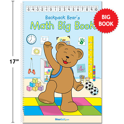 Detailed view of Backpack Bear's Math Big Book