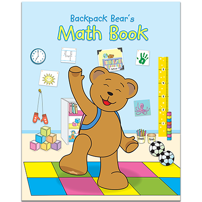 Detailed view of Backpack Bear's Math Book