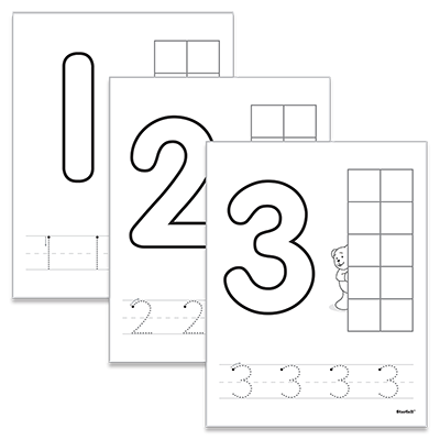 Detailed view of Number Activity Mats