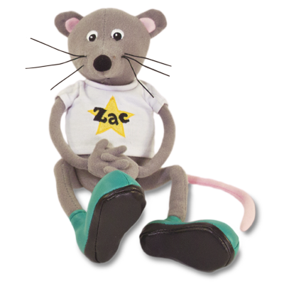 Detailed view of Zac the Rat