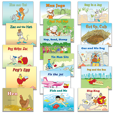 Detailed view of Set of 16 Short-Vowel Pal Books