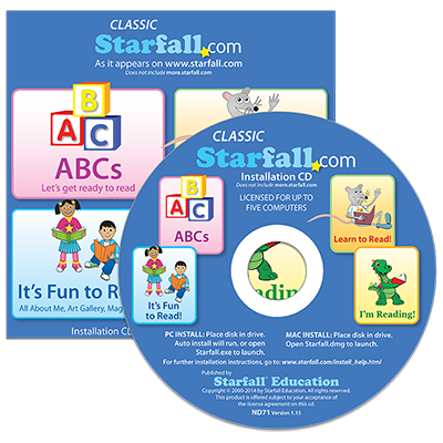Detailed view of Classic Starfall.com Installation CD-ROM