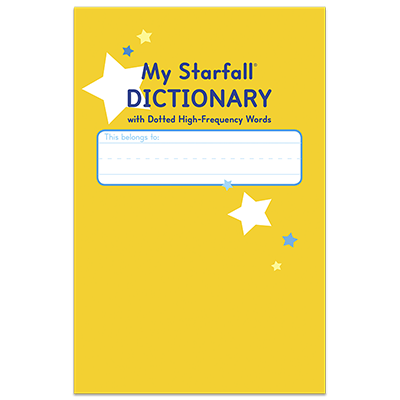 Detailed view of My Starfall Dictionary