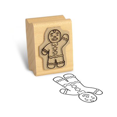Detailed view of Gingerbread Boy Rubber Stamp