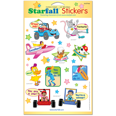 Detailed view of Starfall Stickers