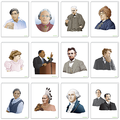 Detailed view of Historical Figures Poster Set
