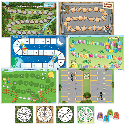 Detailed view of Gingerbread Boy's Math Games