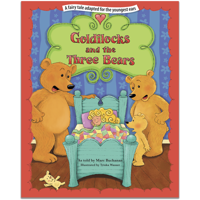 Detailed view of Goldilocks and the Three Bears