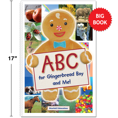 Detailed view of ABC for Gingerbread Boy and Me! Big Book