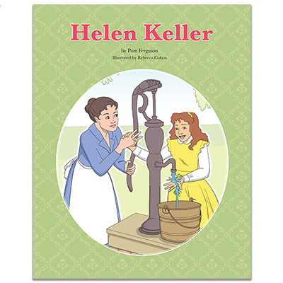 Detailed view of Helen Keller Book