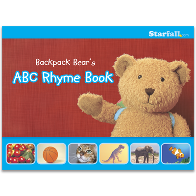 Detailed view of Backpack Bear's ABC Rhyme Book