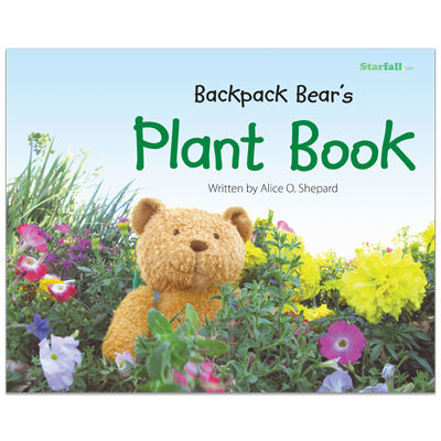 Detailed view of Backpack Bear's Plant Book