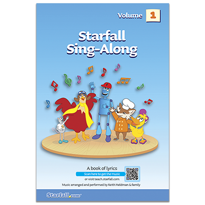 Detailed view of Starfall Sing-Along Volume 1 (CD included)