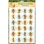 Gingerbread Boy Stickers