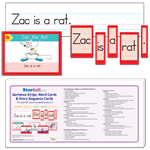 Sentence Strips, Word Cards & Story Sequence Cards for Starfall Learn to Read Books 1-5 thumbnail