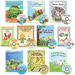 Set of 10 Folk Tales and Fables Books with Read-Along CDs